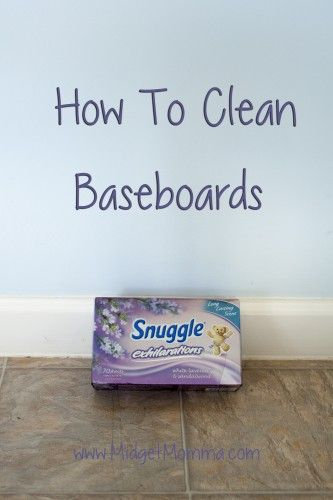 Easy trick to cleaning baseboards that is so easy you will wish you had found this sooner!