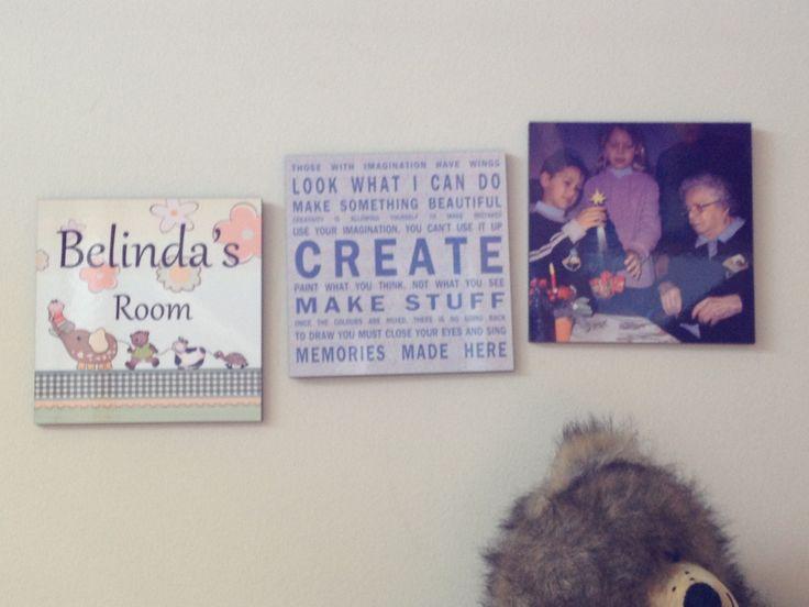 Wooden signs for your #nursery or door.