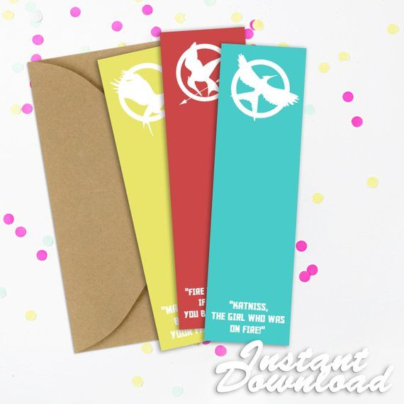 Hunger Games Printable Bookmarks Hunger Games Printable Bookmark