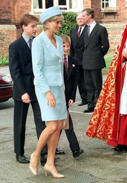 March 9, 1997: Diana, Princess of Wales at Windsor Castle for Prince William's confirmation into the Church of England in Windsor, England.