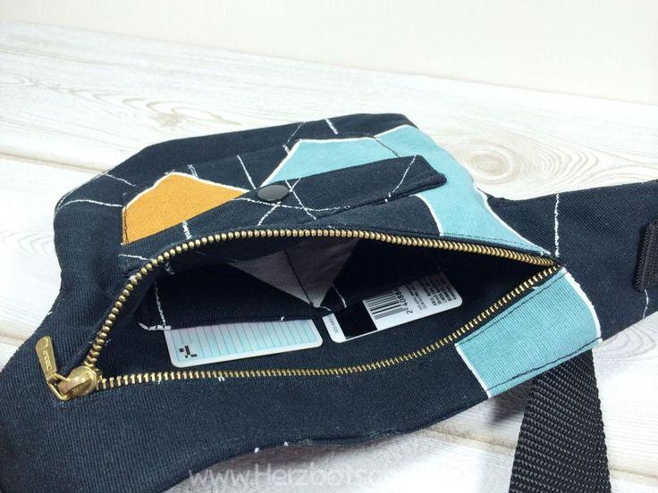 Bauchtasche nähen, kostenlose Anleitung für eine Hüfttasche                                                                                                                                                                                 Mehr