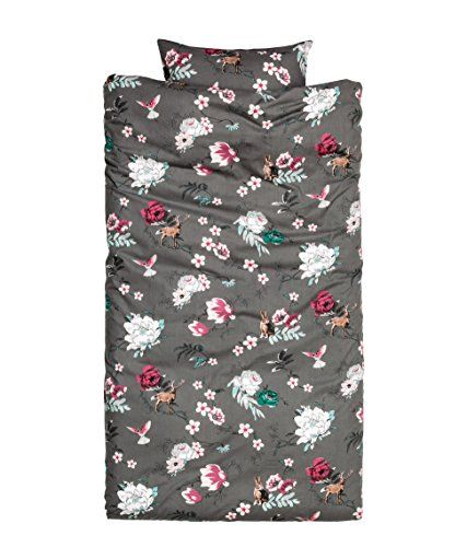 Floral Colorful Country Deer Rabbit Birds Print Cotton Duvet Quilt Cover Pillowcase 2pc Set Twin Single Roses (Dark Gray) Duvet Cover Set http://www.amazon.com/dp/B01AO5LXYM/ref=cm_sw_r_pi_dp_5F8Zwb1KXK8F9