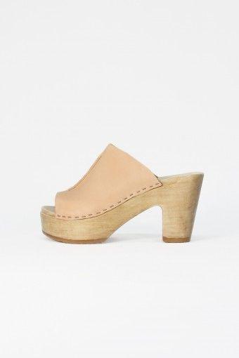 open toe platform clog in naked