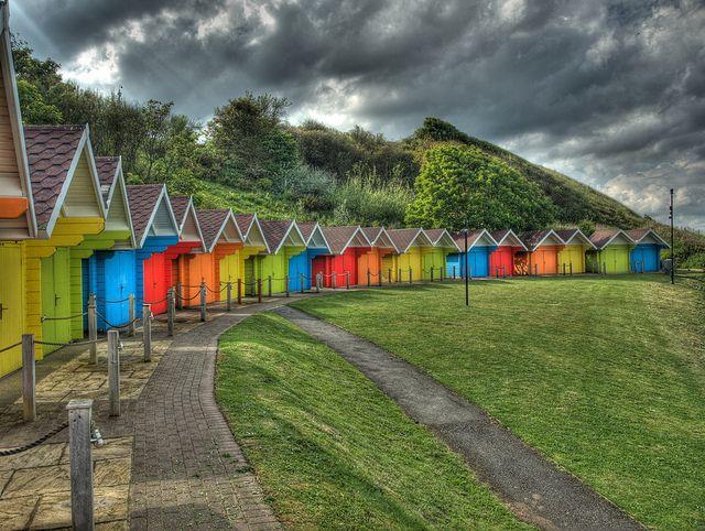 Scarborough Beach Huts (North Yorkshire, England) by DaveKav, via Flickr
