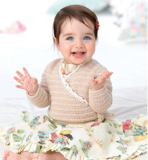Free Patons baby Kimono Crochet Cardigan Pattern. MEASUREMENTS MONTHS 0 3 6 9 12 To Fit Chest cm 35 40 45 50 53 Actual Size cm 40 47 52 60 63 Length (approx) cm 17 20 23 26 29 Sleeve Length cm 11 13 16 19 21 PATONS DREAMTIME MERINO 4 ply 50g balls Main Colour (M) 2 3 3 3 4 Contrast Colour (C) 1 1 1 1 1 Free pattern More Patterns Like This!