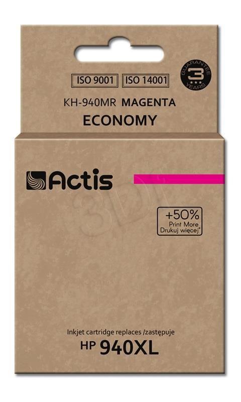 TUSZ ACTIS KH-940MR (DO DRUKARKI HEWLETT PACKARD, ZAMIENNIK HP 940XL C4908AE STANDARD 35ML MAGENTA)