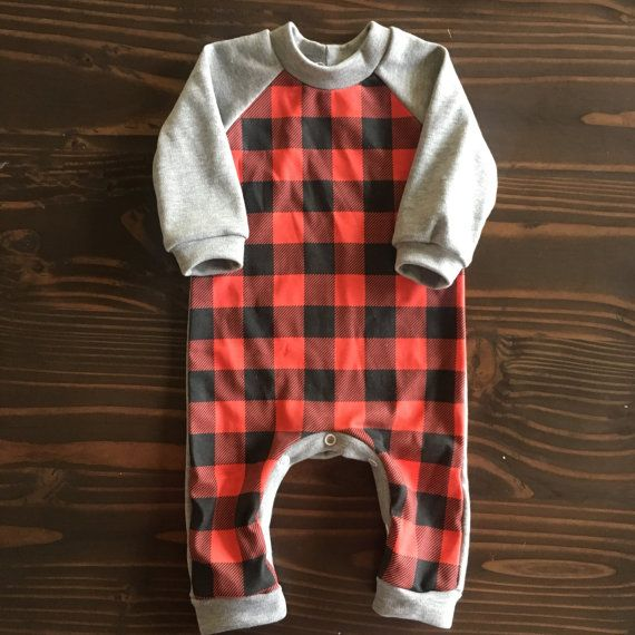 Hey, I found this really awesome Etsy listing at https://www.etsy.com/listing/487543155/red-buffalo-plaid-one-piece-raglan-in