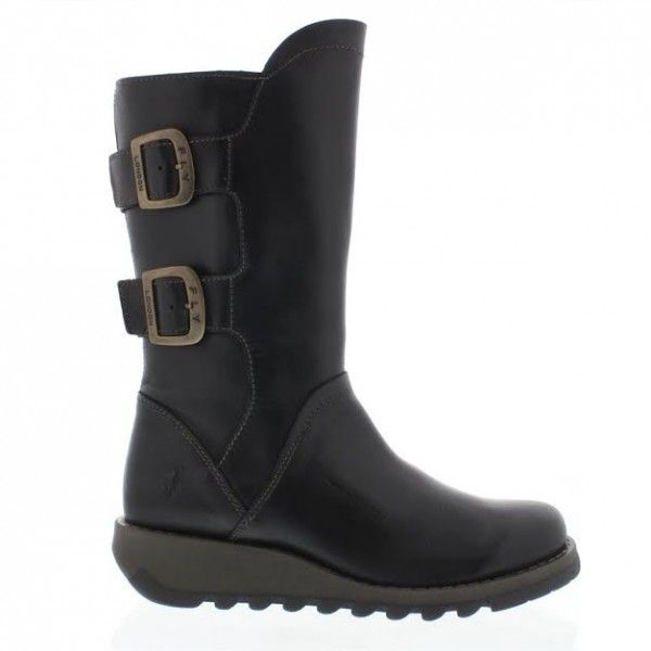 Fly London Sack Black Leather Mid Calf  Boots. £114. Order yours > http://www.kindredsole.com/designers/fly-london/fly-london-sack-black-leather-mid-calf-boots.html