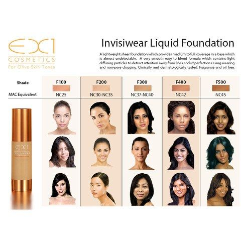 EX1 Cosmetics Invisiwear Liquid Foundation (30ml) (Various Shades): Image 11