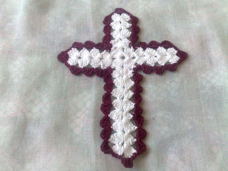 Kreuz Aufnäher-weißes Kreuz mit Umrandung in bordeau als Applikation-schönes Bibel Lesezeichen-christliches Symbol-Kirche Ornament-Kirche von HaekelshopSetervika auf Etsy