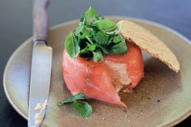 Smoked salmon mousse Recipe - Taste.com.au Mobile http://www.taste.com.au/recipes/9259/smoked+salmon+mousse
