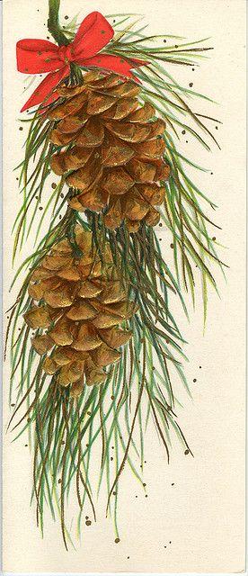 painting - pine cones