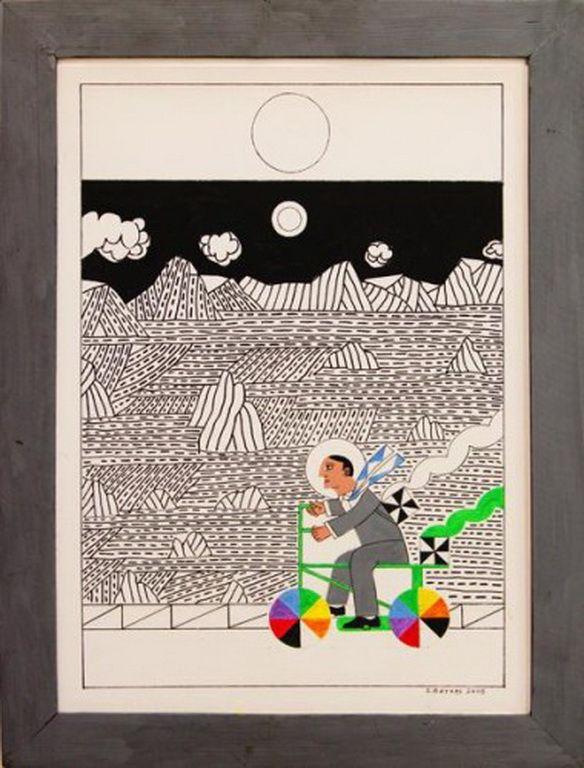 Δημοτική Πινακοθήκη Αθηνών – Municipal Art Gallery of Athens Βότσης Στέλιος-Cycliste dans un paysage