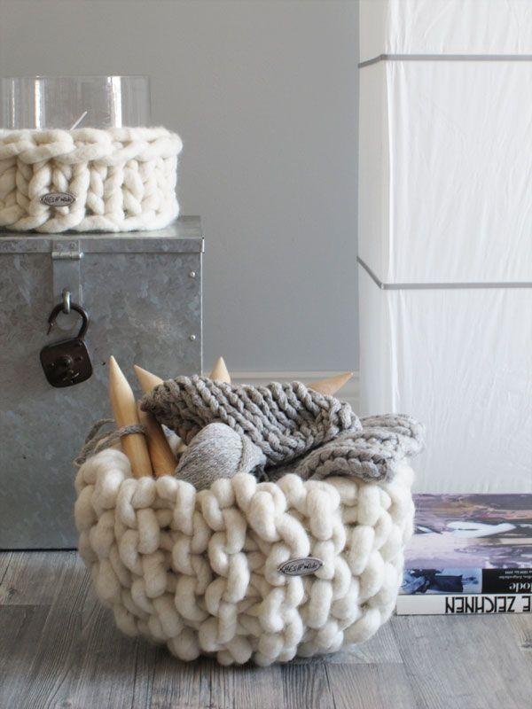 corbeille en laine