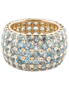 Band ring Rose Gold with ct 14,90 Aquamarine.