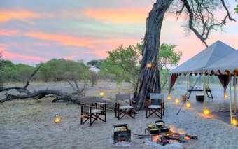 A photo of a tent at Savuti Under Canvas in Chobe Game Reserve