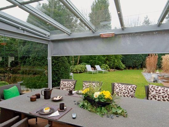 Terrassendach aus Glas Wintergarten Outdoor-Möbel