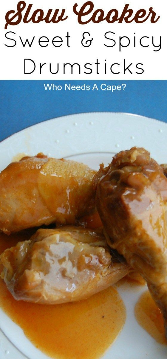 An easy dinner to put together and put into your slow cooker. Sweet and Spicy Slow Cooker Drumsticks is a great meal in a flash!