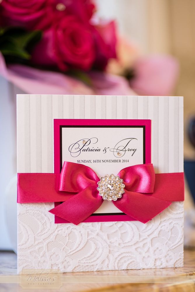 Loved how the flowers perfectly matched the invite colour..