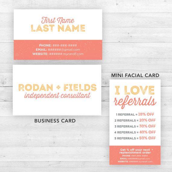 Rodan and Fields Business and Mini Facial Card by LittleBizDesigns