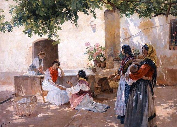 Enrique Simonet - La buenaventura - 1899 - Quiromancia