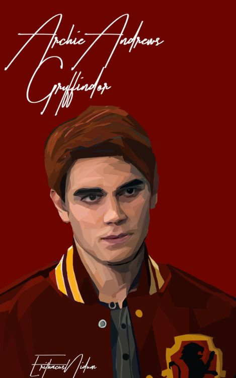 Archie Andrews //Gryffindor Riverdale Hogwarts AU //please don't repost or remove credit more Riverdale art