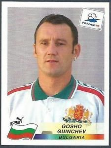 Image result for france 98 panini bulgaria guinchev