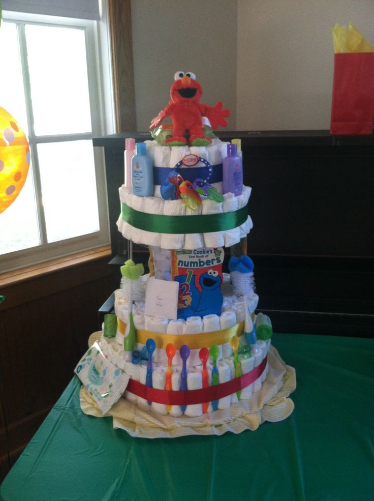 Sesame Street Diaper Cake Diy Projects That I Have Made