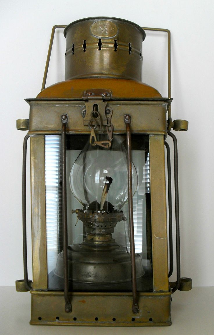 Antique 1920 s Marine NEPTUNE BRASS OIL LANTERN Ship Lamp Boat Maritime Light Boats, Lamps and ...