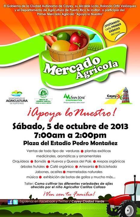 Mercado Agrícola de Cayey: Apoya loNuestro #sondeaquipr #mercadoagricola @apoyalonuestro #cayey #estadiopedromontanez