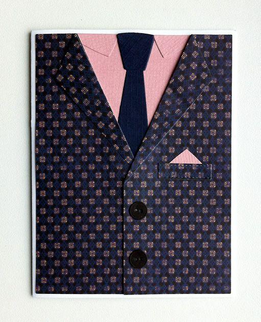 Carf for men - MFT suit and tie die - kort til mænd jakke og slips - Karte für Männer