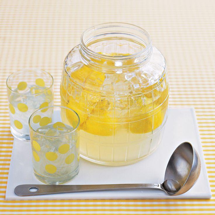 Lemonade recipe  For stronger lemon flavor, add some juiced lemon halves (wash lemons before squeezing) to the lemonade.