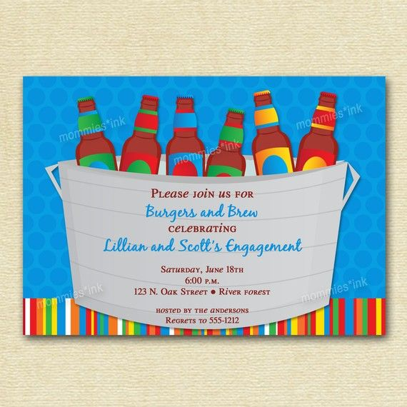 Bucket of Beer Couples Shower Invite  PRINTABLE by MommiesInk, $12.50