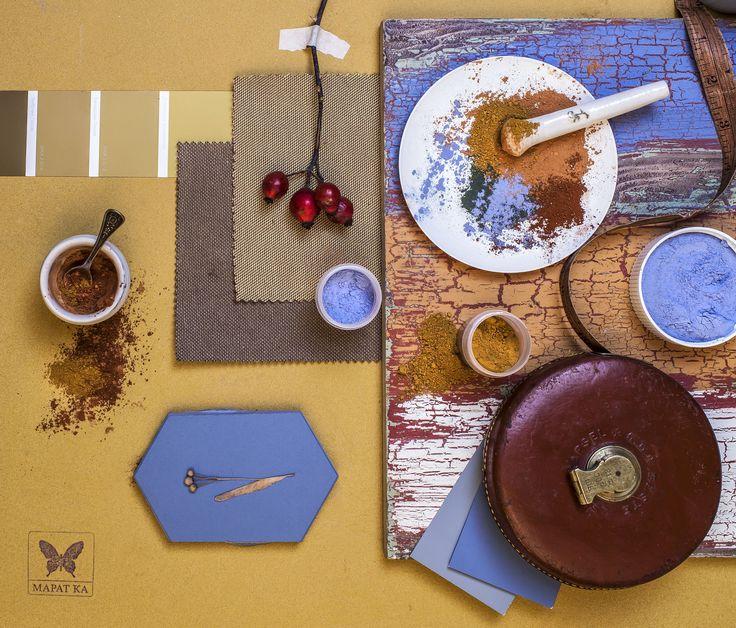 Autumn art mood board. October still life from Calendar MMXV. Styling by Marat Ka Studio.