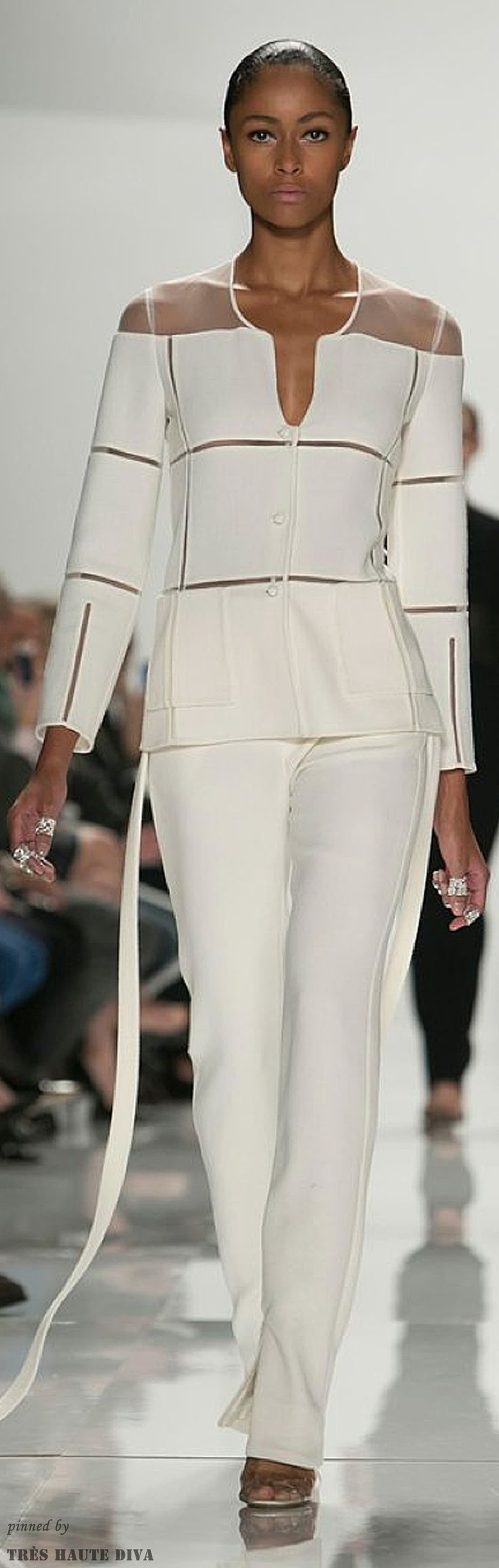 Ivory, Cream, or Pearls ✦ Ralph Rucci Spring 2014 RTW ✦ from my board…