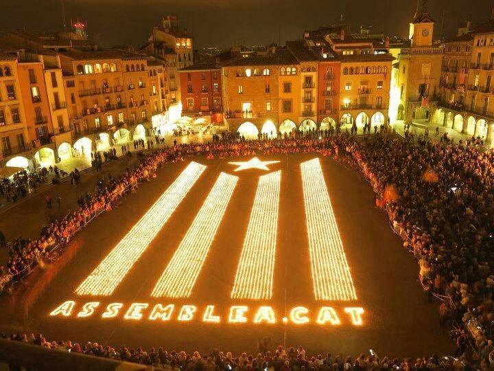 A lot of candles in Vic!!! Freedom for Catalonia