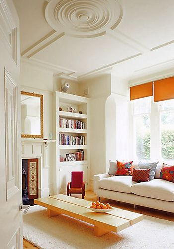 tidy.Living Rooms, Living Spaces, Ceilings Medallions, Ceiling Design, Bedrooms Design, Ceilings Details, Ceilings Design, High Ceilings, Bedrooms Decor