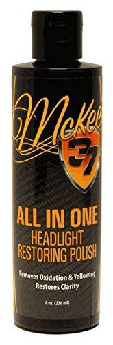 McKee's 37 MK37-121 All In One Headlight Restoring Polish, 8 fl. oz.  Removes Cloudiness  Restores Clarity  Easy To Apply  No Sanding Required