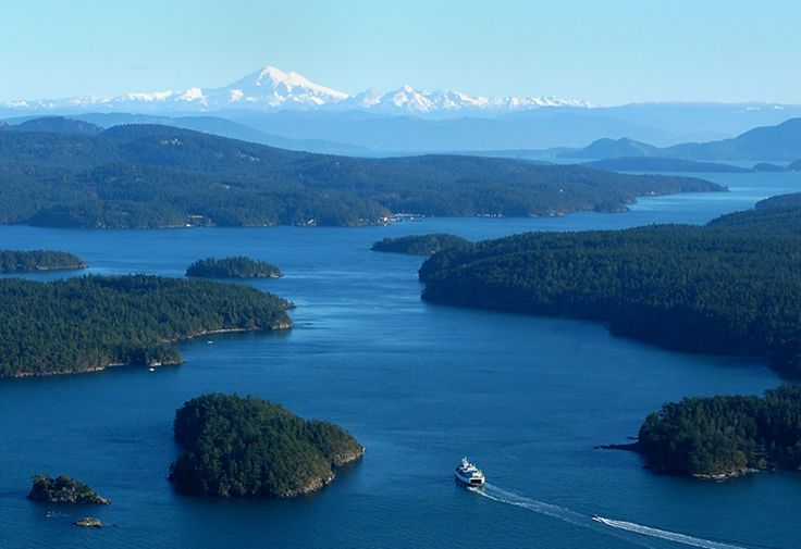 San Juan Islands. You can rent a boat and just cruise around for the day. If you go during the right time of year you can see Orcas.