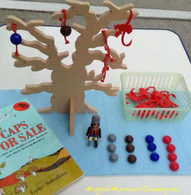 """Caps For Sale"" Montessori style DRAMA, ART, MUSIC & some challenging FINE MOTOR activities to go along with this beloved storybook"