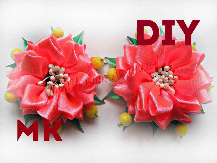Как сделать бант канзаши How to make a bow kanzashi DIY