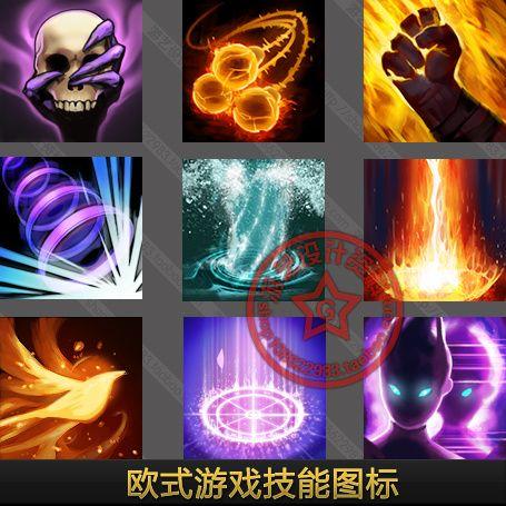 游戏美术资料界面UI设计素材/精美欧式游...