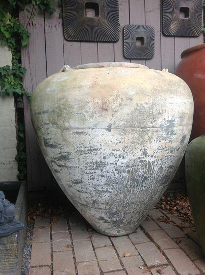 Thai Limestone White Large Jar