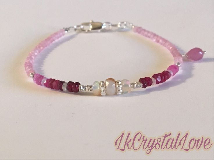 A personal favourite from my Etsy shop https://www.etsy.com/no-en/listing/569074969/ombre-natural-ruby-bracelet-ruby-and