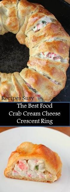Recipe Susy ==>Crab Cream Cheese Crescent Ring - Recipes Susy Food Bast