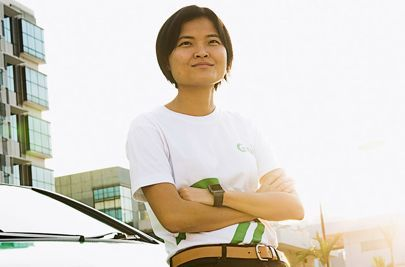 All hail Grab - the taxi company that faced down Uber in Asia. Grab's co-founder Hooi Ling Tin