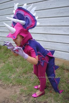 Coolest Handmade Triceratops Costume...