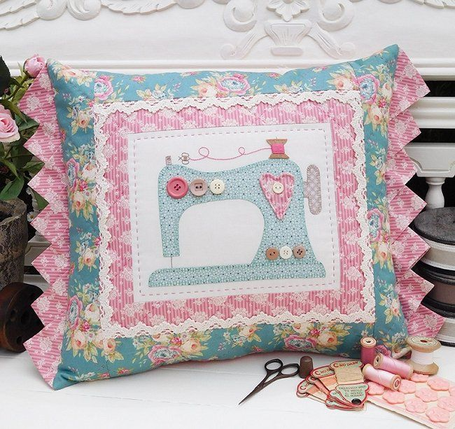 The Rivendale Collection - Sewing Bee - Finished cushion size: 15 x 19�