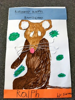 The Learning Lab Blog: Creating character collages: use specific characteristics along with various artistic mediums for a fun project in literacy!  Ralph S. Mouse (Motorcycle)
