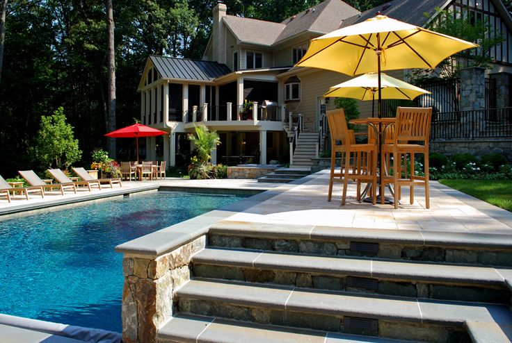 Luxury backyard in ashton maryland pool patio for Pool design maryland